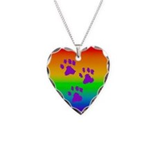Three Paw Rainbow Necklace