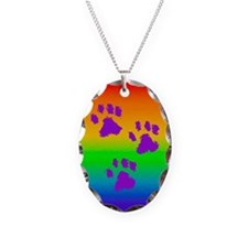 Three Paw Rainbow Necklace