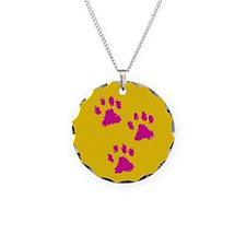 Three Paw Yellow Necklace