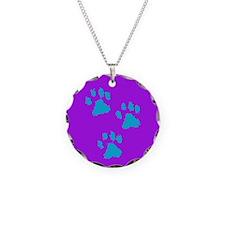 Three Paw Purple Necklace