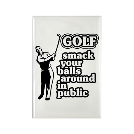 Golf Smack Rectangle Magnet