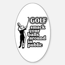 Golf Smack Oval Decal