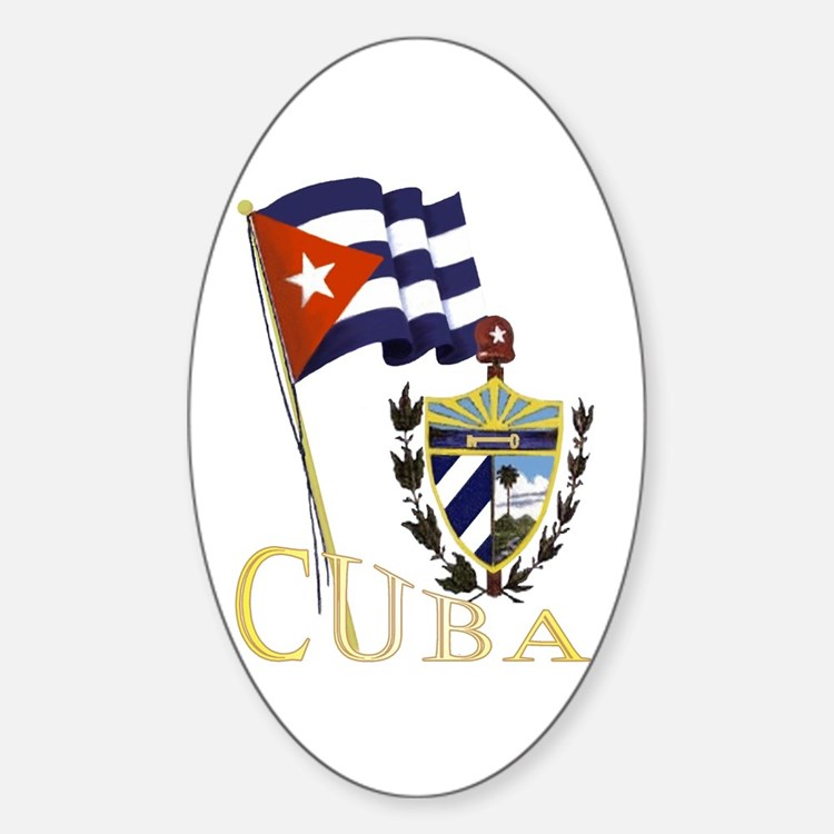 Classic Cuba Oval Decal