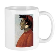 Portrait of Dante Small Mugs