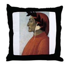 Portrait of Dante Throw Pillow