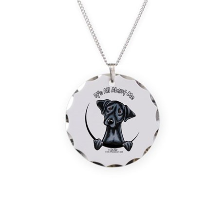 Black Lab IAAM Necklace Circle Charm