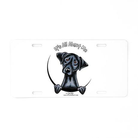 Black Lab IAAM Aluminum License Plate