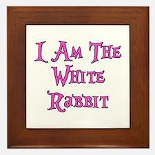 I Am The White Rabbit Follow Me Framed Tile