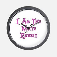 I Am The White Rabbit Follow Me Wall Clock