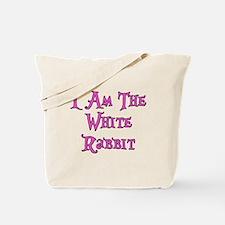 I Am The White Rabbit Follow Me Tote Bag