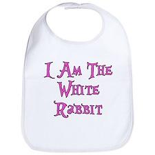 I Am The White Rabbit Follow Me Bib
