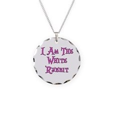 I Am The White Rabbit Follow Me Necklace