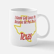 God Loves Me in TX Mug