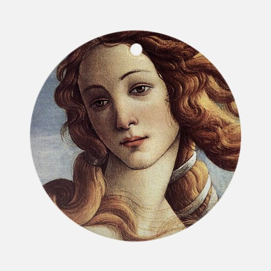 The Birth of Venus (detail) Ornament (Round)