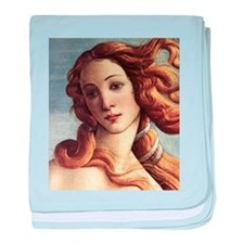 The Birth of Venus (detail) baby blanket