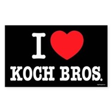I (heart) KOCH Bros. Decal