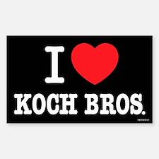 I (heart) KOCH Bros. Sticker (Rectangle 10 pk)
