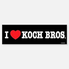 I (heart) KOCH Bros. Bumper Bumper Sticker