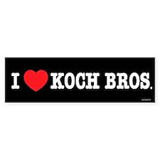 I (heart) KOCH Bros. Bumper Sticker