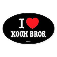 I (heart) KOCH Bros. Decal