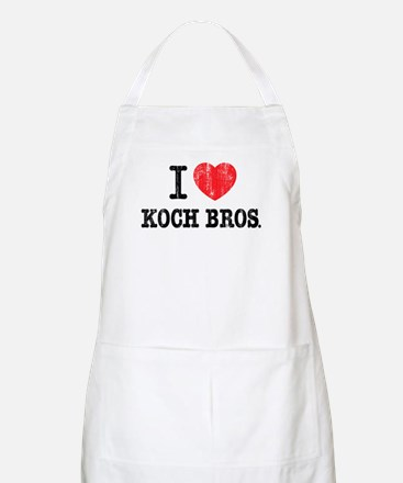 I (heart) KOCH Bros. Apron