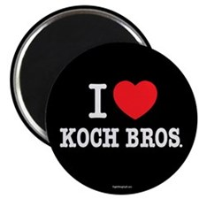 "I (heart) KOCH Bros. 2.25"" Magnet (10 pack)"