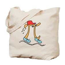 Funny Long Running Pi Tote Bag
