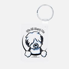 Old English Sheepdog IAAM Keychains