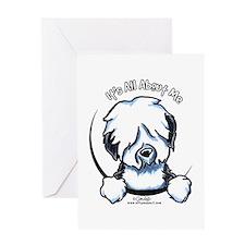 Old English Sheepdog IAAM Greeting Card