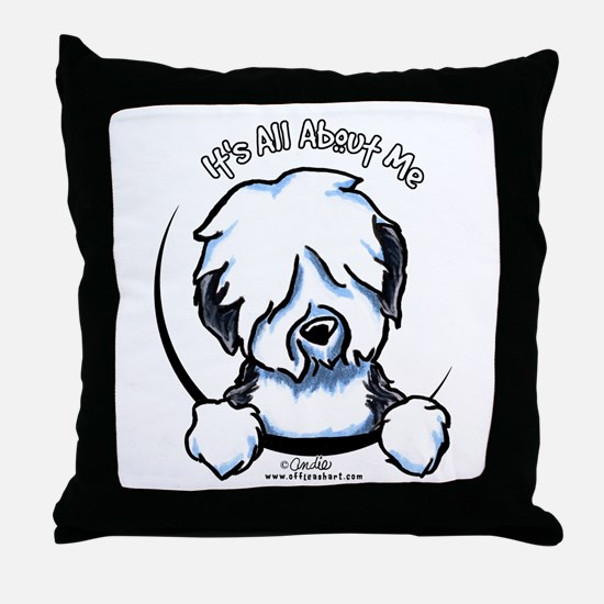 Old English Sheepdog IAAM Throw Pillow