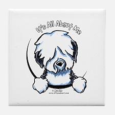 Old English Sheepdog IAAM Tile Coaster