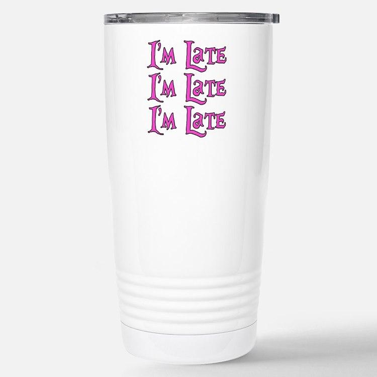 I'm Late Alice in Wonderland Travel Mug