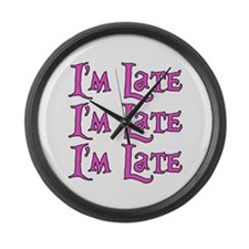 I'm Late Alice in Wonderland Large Wall Clock