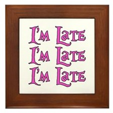 I'm Late Alice in Wonderland Framed Tile