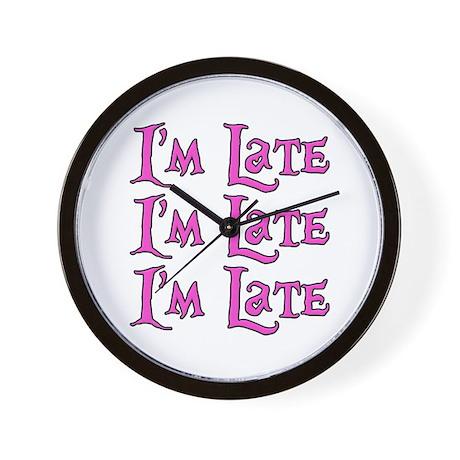 I'm Late Alice in Wonderland Wall Clock