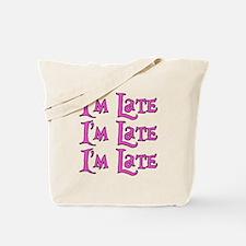 I'm Late Alice in Wonderland Tote Bag