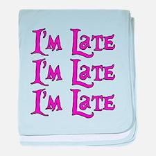 I'm Late Alice in Wonderland baby blanket