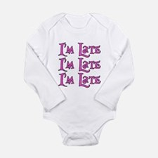 I'm Late Alice in Wonderland Long Sleeve Infant Bo