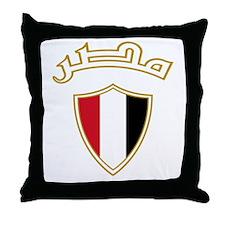 Egypt Crest Throw Pillow
