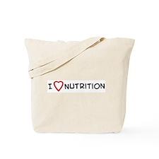 I Love Nutrition Tote Bag