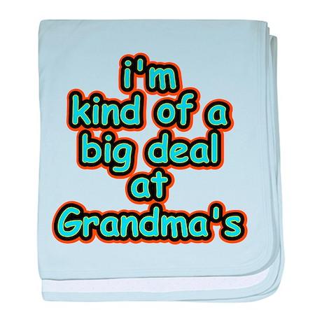 Big Deal At Grandma's baby blanket