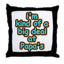 Big Deal At Papa's Throw Pillow