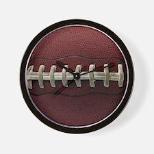Football Laces Wall Clock