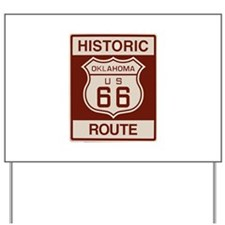 Oklahoma Route 66 Yard Sign