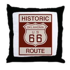Oklahoma Route 66 Throw Pillow