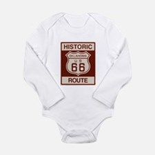 Oklahoma Route 66 Long Sleeve Infant Bodysuit
