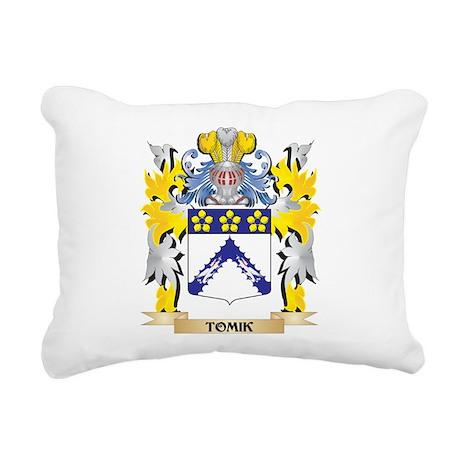 Tomik Family Crest - Coa Rectangular Canvas Pillow