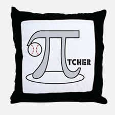 Funny Baseball Pi-tcher Throw Pillow