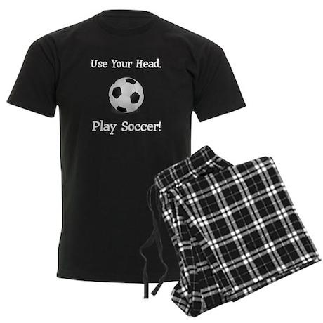 Use Your Head. Play Soccer! Men's Dark Pajamas