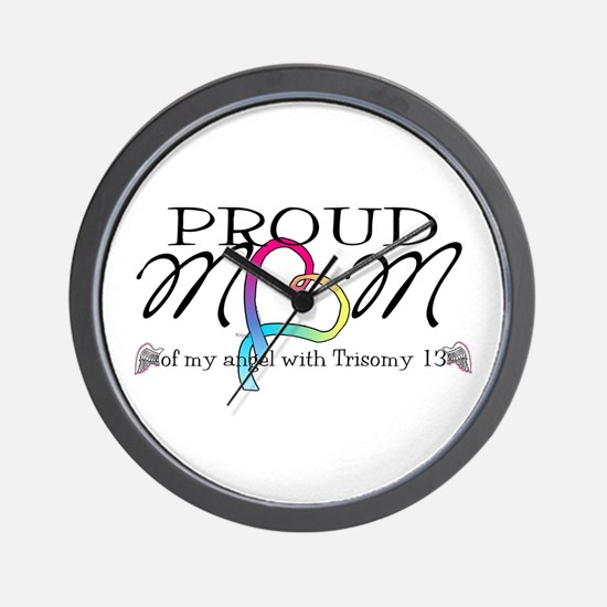 Proud mom of T13 angel Wall Clock